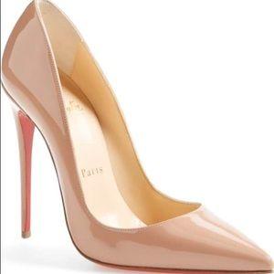 4b50bd5c3863 Christian Louboutin Shoes - Christian Louboutin so kate nude 120 patent  heels.